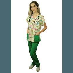 Pijama Cirúrgico Feminino - Safari 02 - Empório Materno