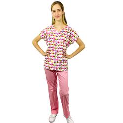 Pijama Cirúrgico Feminino - Corujas 2 - Empório Materno
