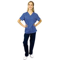 Pijama Cirúrgico Feminino - Dentes Digital 4 - Empório Materno