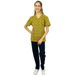 Pijama Cirúrgico Feminino - Gatos Digital 4 - Empório Materno