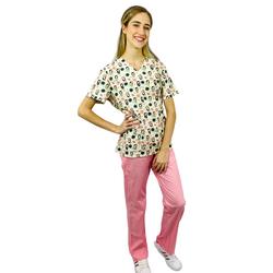 Pijama Cirúrgico Feminino - Gueixa Digital 3 - Empório Materno