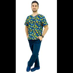 Pijama Cirúrgico Masculino - Dino Digital 1 - Empório Materno