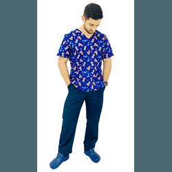 Pijama Cirúrgico Masculino - Príncipe e o Dragão - Empório Materno