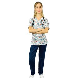 Pijama Cirúrgico Feminino - Medical Nursing 3 - Empório Materno