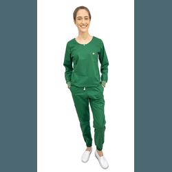 Pijama Cirúrgico Feminino Trendy - Verde Oliva