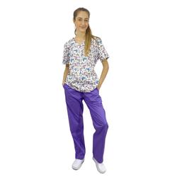 Pijama Cirúrgico Feminino - Borboletas 3 - Empório Materno