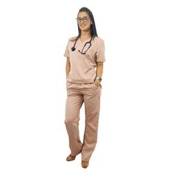 Pijama Cirúrgico Feminino Gabardine - Rose Queimado - Empório Materno