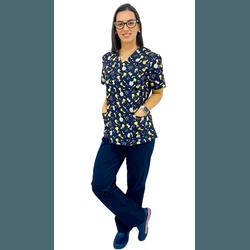 Pijama Cirúrgico Feminino - Pequeno Príncipe 1 - Empório Materno