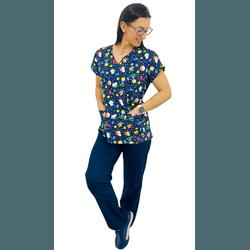 Pijama Cirúrgico Feminino - Pequeno Príncipe 2 - Empório Materno