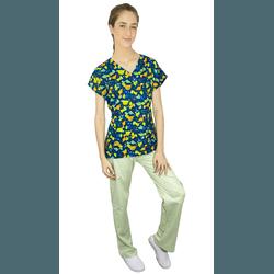 Pijama Cirúrgico Feminino - Dino Digital 1 - Empório Materno