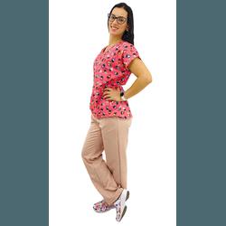 Pijama Cirúrgico Feminino - Gueixa Digital 4 - Empório Materno