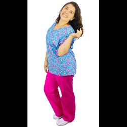 Pijama Cirúrgico Feminino - Matrioskas 02 - Empório Materno