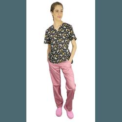 Pijama Cirúrgico Feminino - Unicórnio Digital 1 - Empório Materno