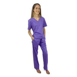 Pijama Cirúrgico Feminino Lavanda