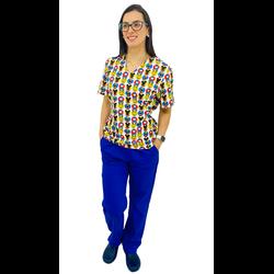 Pijama Cirúrgico Feminino - Mickey 6 - Empório Materno