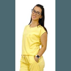 Scrub Cirúrgico Feminino Trendy 100% algodão - Amarelo - Empório Materno