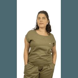 Scrub Cirúrgico Feminino Trendy 100% algodão - Cáqui - Empório Materno