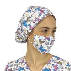 Touca - Máscara Medical Borboletas 3 - Empório Materno