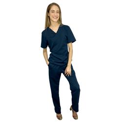 Pijama Cirúrgico Gabardine - Azul Marinho - Empório Materno