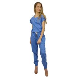 Pijama Cirúrgico Feminino Trendy - Azul Italiano - Empório Materno
