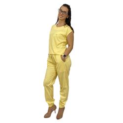 Pijama Cirúrgico Feminino Trendy - Amarelo - Empório Materno