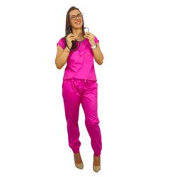 Pijama Cirúrgico Feminino Trendy - Pink - Empório Materno