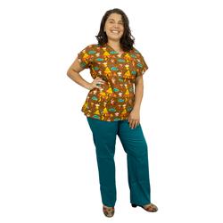 Pijama Cirúrgico Feminino - Indios Digital - Empório Materno