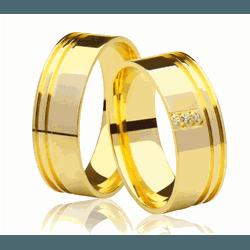 Alianças de casamento e noivado em ouro 18k 750 fr... - EMPORIUM DAS ALIANÇAS