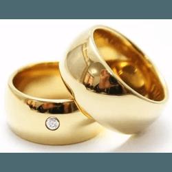 Alianças Gaya 10mm ♥ Casamento E Noivado Tungstêni... - FABILE