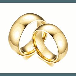 Alianças Gaya 8mm ♥ Casamento E Noivado Tungstênio... - FABILE