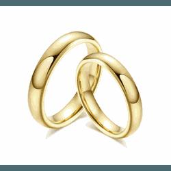 Alianças Gaya 4mm ♥ Casamento E Noivado Tungstênio... - FABILE