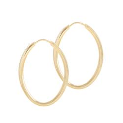 Brinco De Ouro 18k Argola Oval De 22mm - 101299 - Fábrica do Ouro