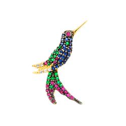 Pingente De Ouro 18k Beija-flor - 100387 - Fábrica do Ouro