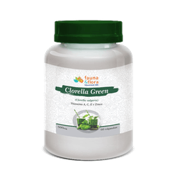 Clorella Green Vitaminas A C E Zinco 500mg 60 Caps - Fauna e Flora l Sua Loja Online de Produtos Naturais