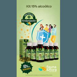 Kit com 06UN Verde Própolis 15% 30ml Alcoólico - Fauna e Flora l Sua Loja Online de Produtos Naturais