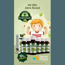 Kit com 06UN Verde Própolis 15% 30ml zero Alcool - Fauna e Flora l Sua Loja Online de Produtos Naturais