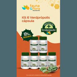 Kit com 06UN Verde Própolis em Capsula - Fauna e Flora l Sua Loja Online de Produtos Naturais