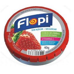 Bala Flopi Morango 40g - 106 - Fitoflora Produtos Naturais