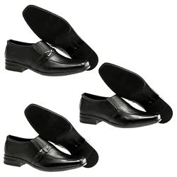 Kit de 3 pares Sapato Social + 3 Pares de Meia - Garra Calçados