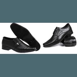 Kit 2 Pares de Sapato Masculino - Garra Calçados