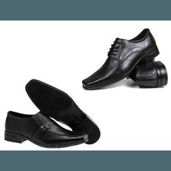 Kit 2 Pares de Sapato Social Masculino - Garra Calçados