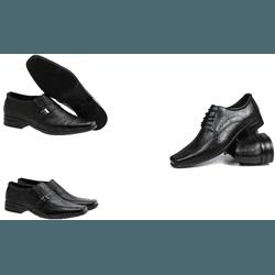 Kit de 3 pares Sapato Social - Garra Calçados