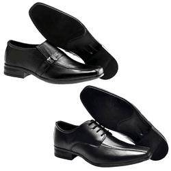 Kit de 2 pares Sapato Social + 2 Pares de Meia - Garra Calçados