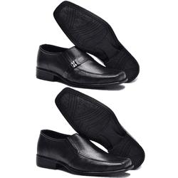 Kit 2 Pares De Sapato Social + 2 Pares De Meia - Garra Calçados