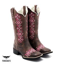 Bota Texana feminina Franca Boots bico quadrado - ... - FRANCABOOTS