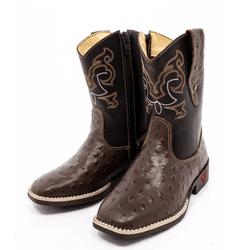 bota texana infantil bordada replica avestruz - F... - FRANCABOOTS