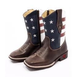 bota texana infantil bordada usa - 201957 - FRANCABOOTS