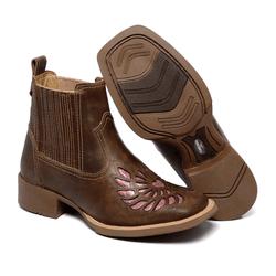 botina texana franca boots feminina bico quadrado ... - FRANCABOOTS