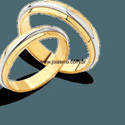 5820 - Alianças 5,5mm de Casamento Viçosa - Joias MB
