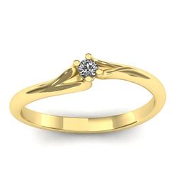 7518 - Anel Solitário de Diamante Boa Vista - Joias MB
